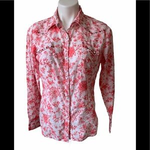 Cowgirl Up Snap Button Front Western Shirt